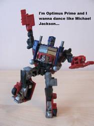 Optimus Prime loves dancing