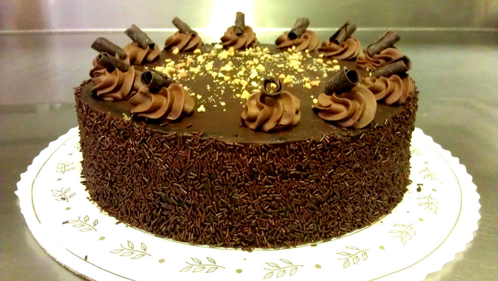 Chocolate Peanut Butter Mousse Cake by asthetiq on DeviantArt