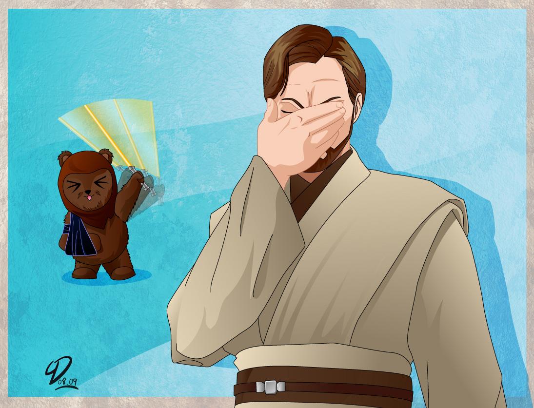 """Rápido!!! Buscad la palabra """"donk"""" en google imágenes Obi_Wan_Face_Palm_by_deviantyurai"""