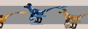 Crested Raptor Adopt Designs [closed] PAYPAL by Kumotogi