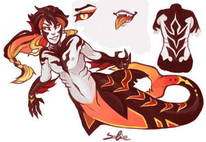 Gift - Glow Fire Vampire Merman
