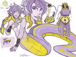 Purple And Gold Naga for Thecuriousfool