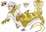 COMM ADOP - Gold Vampire Shark Merman