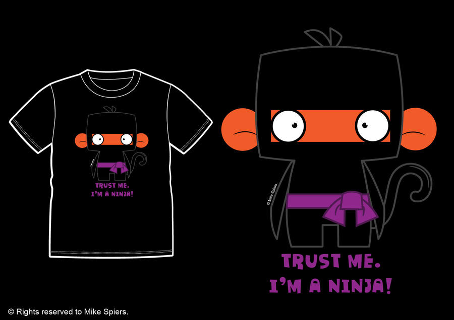 NINJA MONKEY TEE by spiers84