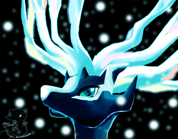 Legendary Xerneas by kiraradaisuki