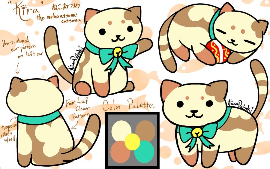 Kira my Neko Atsume Kitty by kiraradaisuki