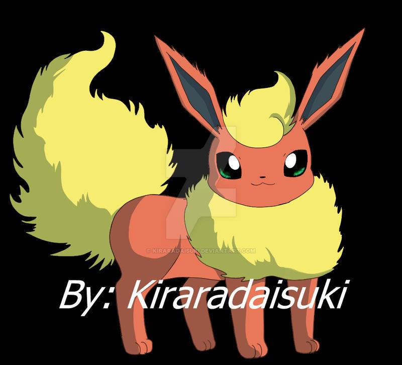 Flareon tutorial by kiraradaisuki