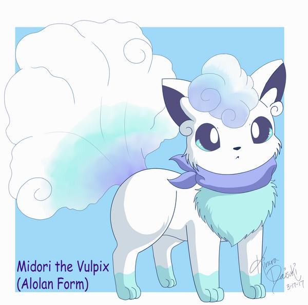 Midori the Vulpix (Alolan Form) by kiraradaisuki