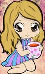 Myriam drinking tea by kimimakio231