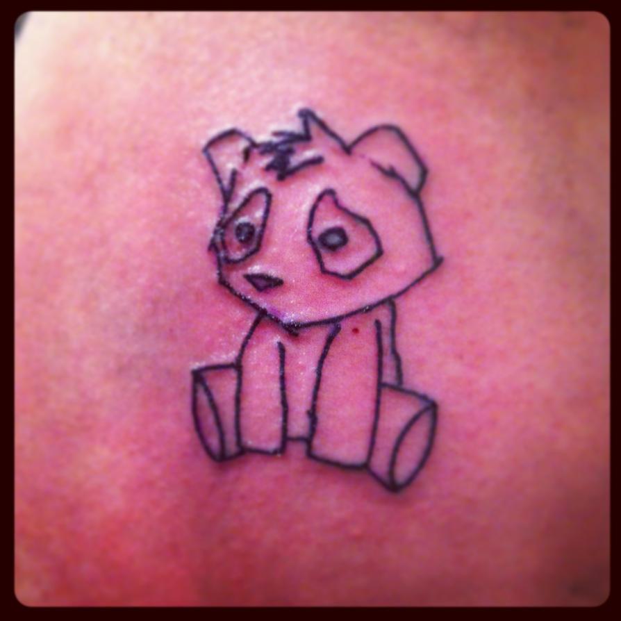 sad panda tattoo by hobojay on deviantart. Black Bedroom Furniture Sets. Home Design Ideas