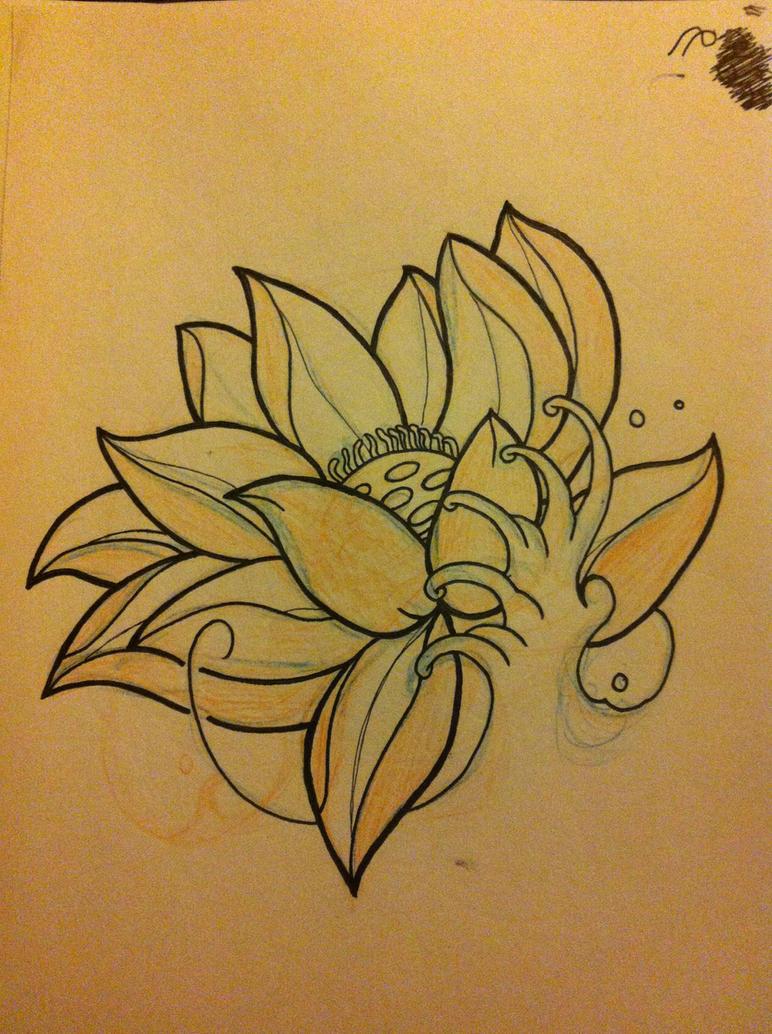 Japanese Lotus by Hobojay on DeviantArt