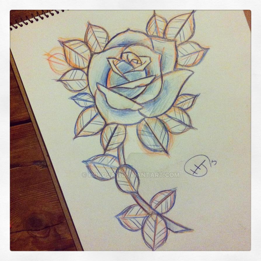 Rose Stem Sketch By Hobojay On Deviantart