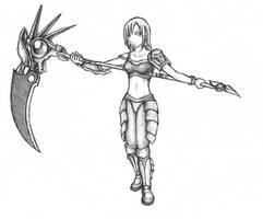 Scythe Girl: Revamped by BeholderKin