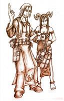 Melek and Minerva by BeholderKin