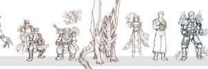 20 RPG Characters- Part II by BeholderKin