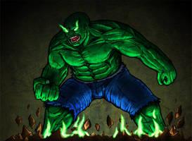 Possessed Hulk by BeholderKin