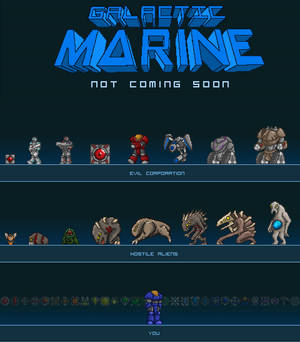 Galactic Marine Poster