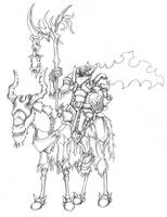 Headless Knight Pencils by BeholderKin