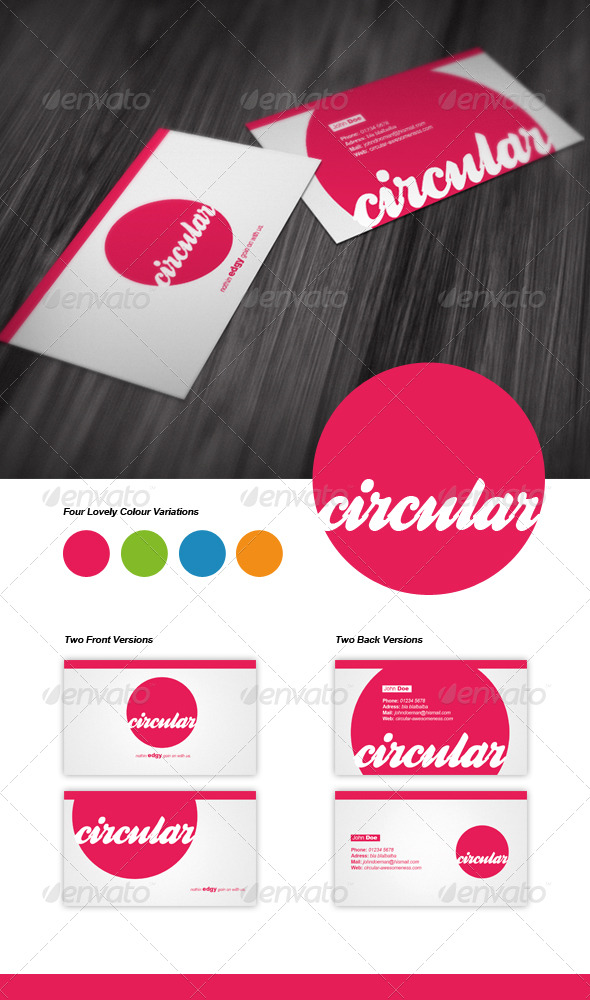 Circular Business Card by PAVA-Design