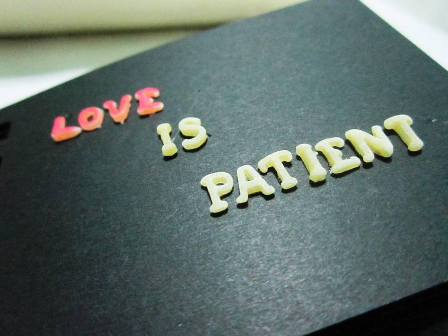 Love is Patient by Vallia