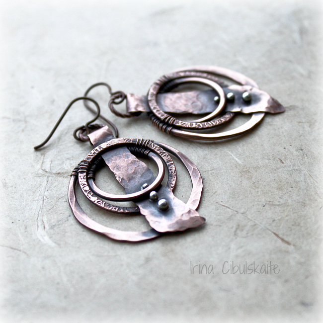 Ethno Copper Earrings by taniri