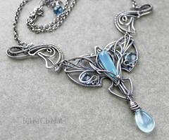 Blue Iris - Sterling silver pendant by taniri