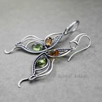 Butterfly - Sterling Silver Earrings by taniri