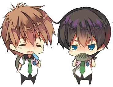 Chibii Haruchan and Makochan by hizuki24