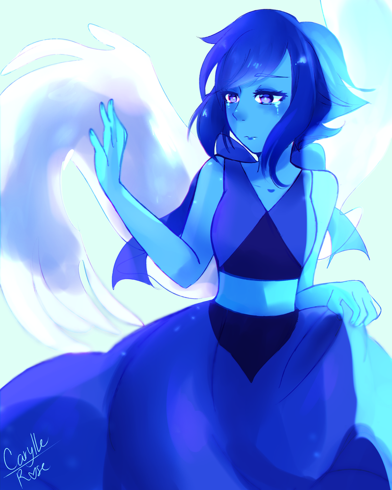 Hi guys heres my first fanart of Steven Universe and I chose Lapis cause i like everything about her and also cause she won my poll