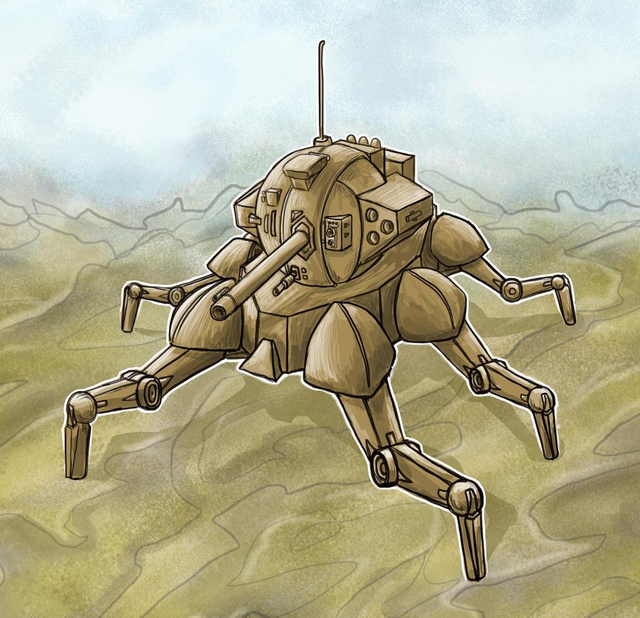 Spider Mech 2 by Bozem