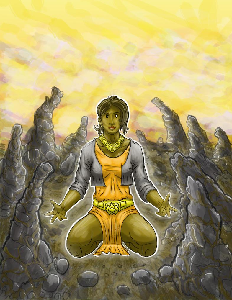 Female Earthmancer by Bozem