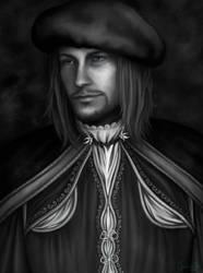 Leonardo Black And White by SweetCandyRain