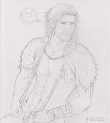 Anders scetch by SweetCandyRain