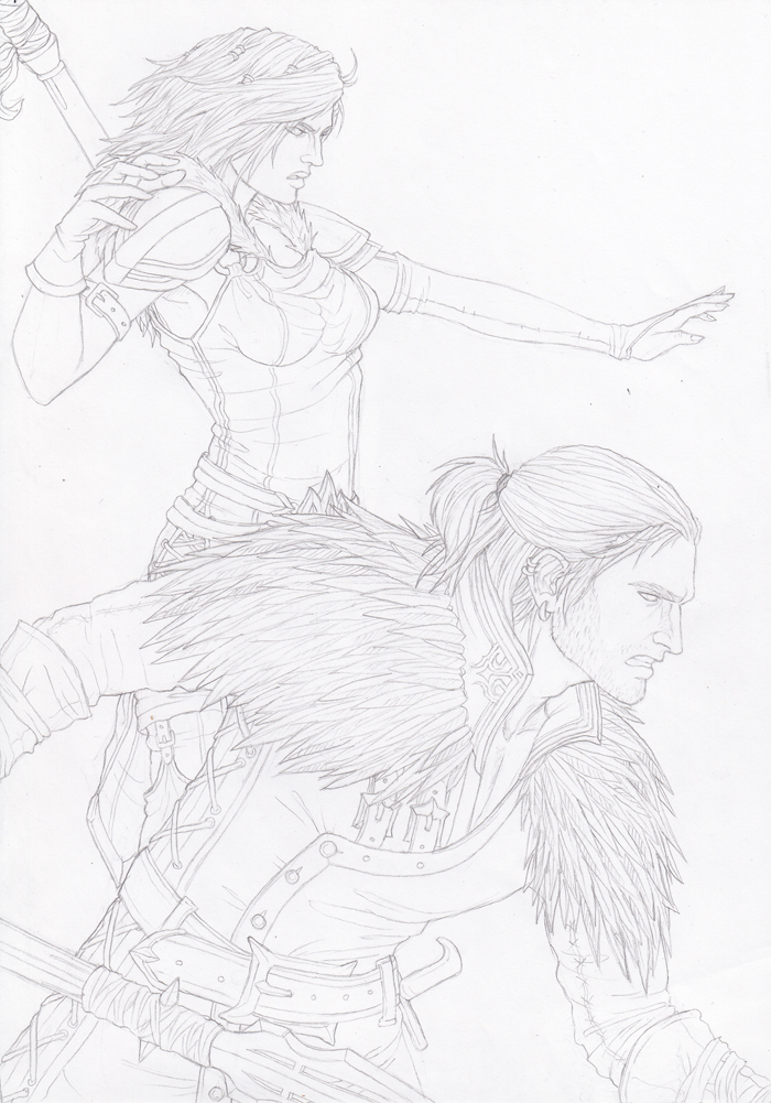 DA - Helena and Anders scetch by SweetCandyRain
