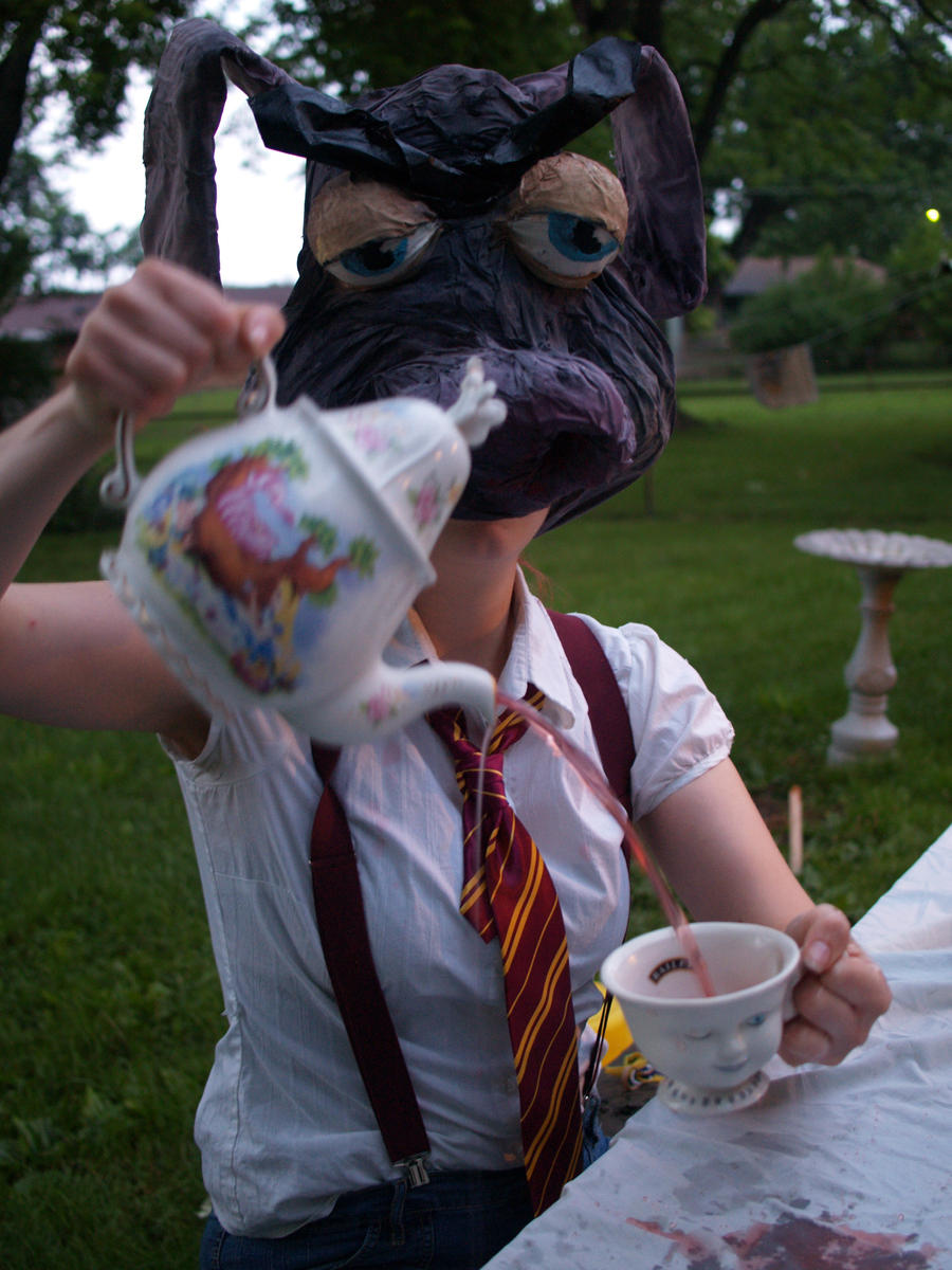 March hare pouring the tea by cheshireINwonderland