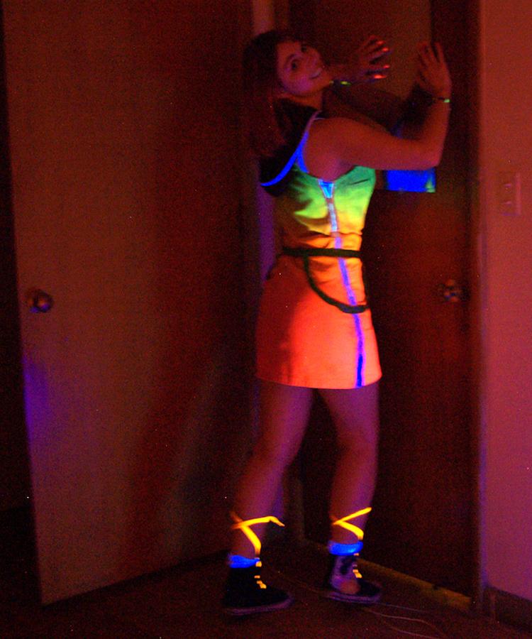 Neon Kairi at door by cheshireINwonderland
