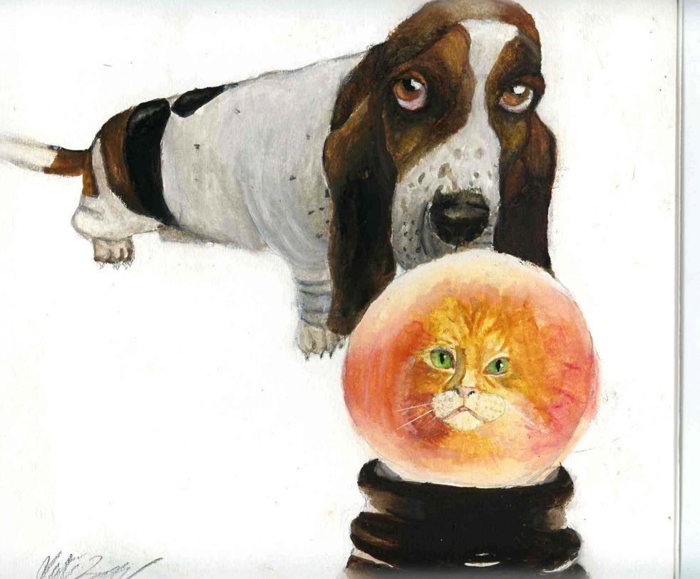 doggie fortune teller by cheshireINwonderland