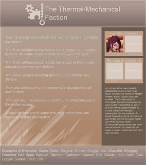 Elementshifter info - TheThermalMechanical Faction by YouAreNowIncognito