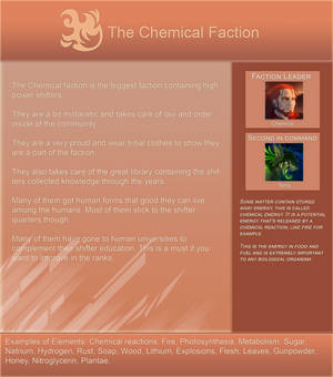 Elementshifter info - The Chemical Faction by YouAreNowIncognito