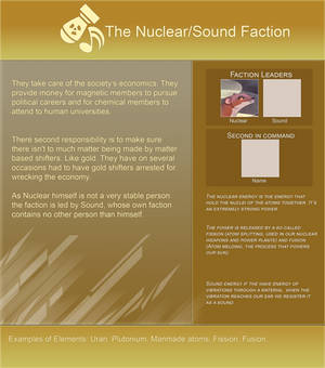 Elementshifter info - The Nuclear/Sound Faction by YouAreNowIncognito
