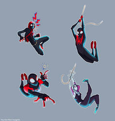 Some spidey poses by YouAreNowIncognito