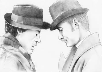 Sherlock Holmes - Holmes and Watson :Fortunate: by BileaNOX