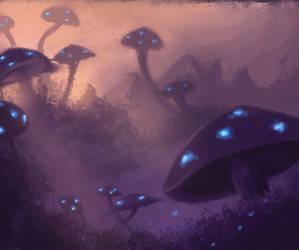 Luminus Mushroom Field