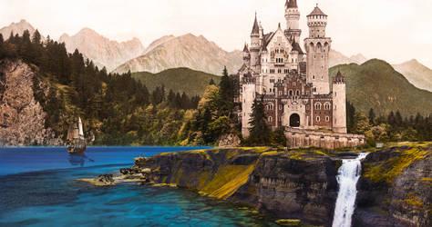 Photomanipulation: Seaside castle