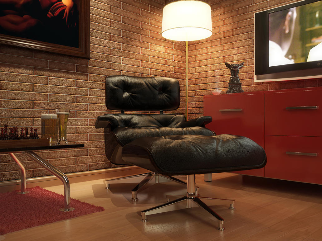 Eames Lounge Chair By Kulayan3d