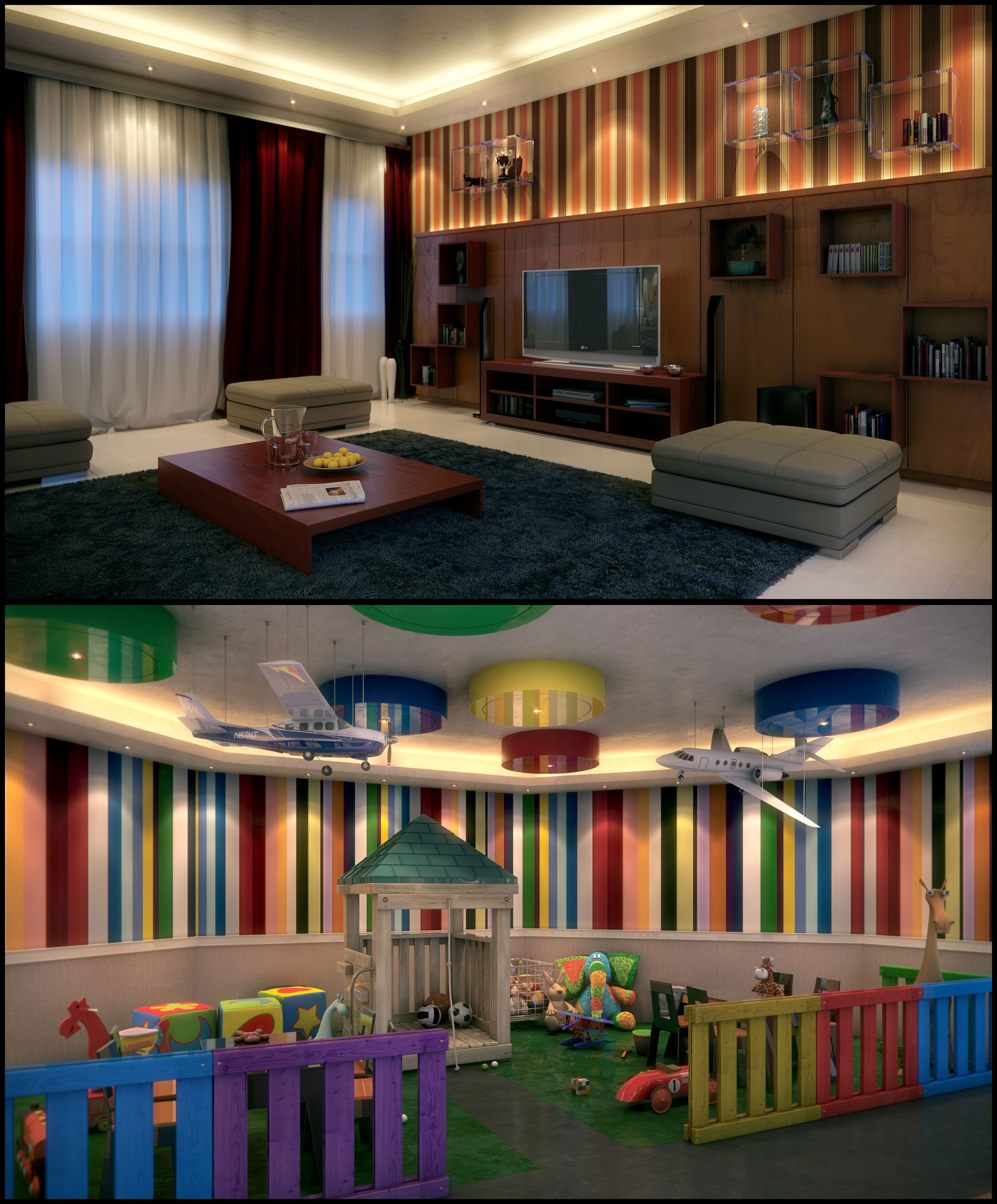 Toy Room And Living Area By Kulayan3d On DeviantArt
