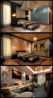 Morrocan Style Bedroom by kulayan3d