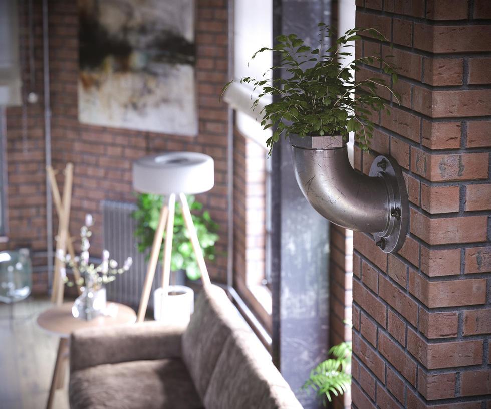 Loft Interior by kulayan3d