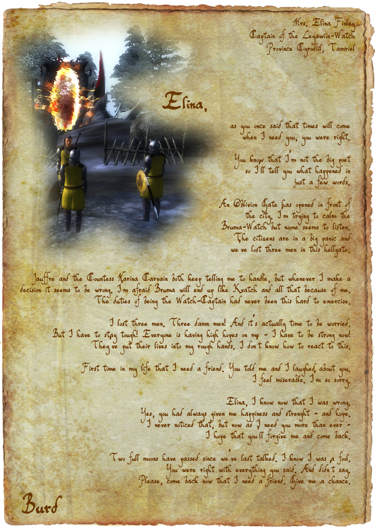 Letter to Elina by Scuria