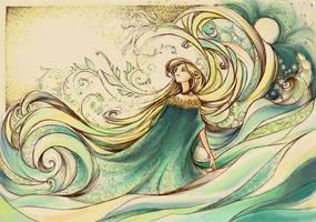 Le Flot du Temps -colored by Little-Endian
